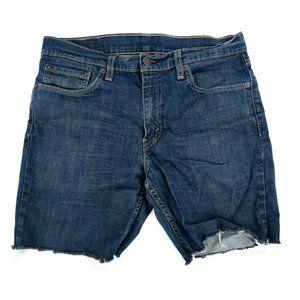 Levi's 511 Jean Shorts Men's 33 Blue Cut-off Fray